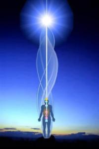 sole e uomo nadi luce infinita